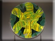 green yellow swirl disk