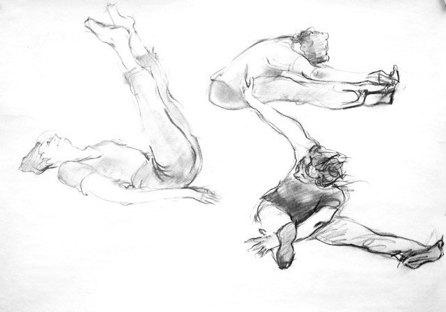 3 Pilates in Charcoal