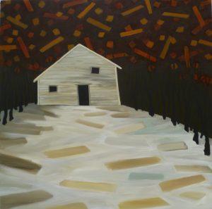 Cosmic Drift by Ellie Reinhold -- acrylic on canvas
