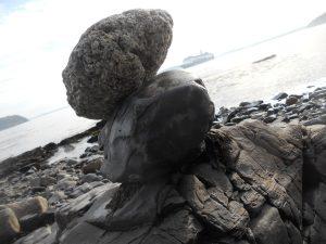 Stone Sculpture at Bar Harbor, Maine
