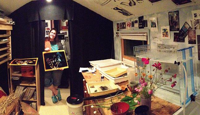 Jamie Hagenberger and Her Darkroom Studio for Display