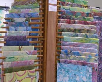 Marbled Silk Shawls and Scarves by Trudy Thomson