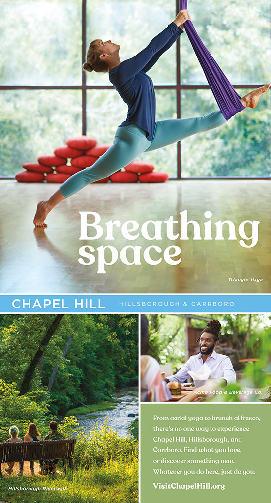 Chapel Hill Visitors print ad