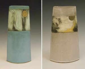 Two Pottery Pieces by Emily Lees