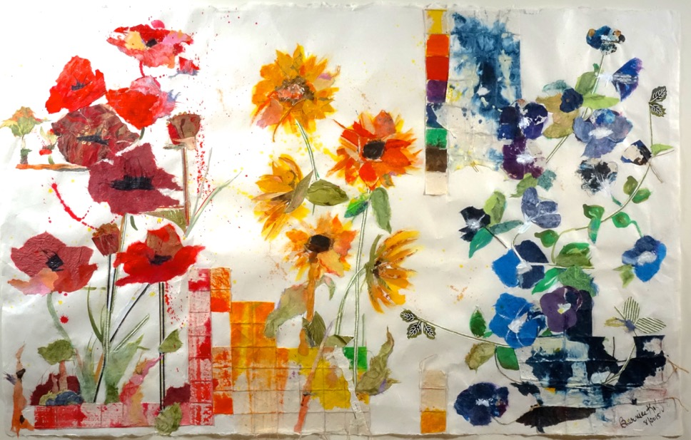 Floral Triptych I MM on Paper