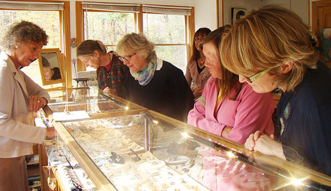Visitors admire Nadine Zenobi's Jewelry