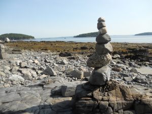 Stone Sculpture at Bar Harbor