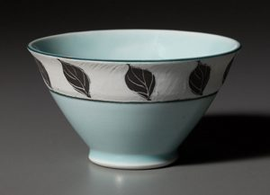 Celadon Rice Bowl by Deborah Harris