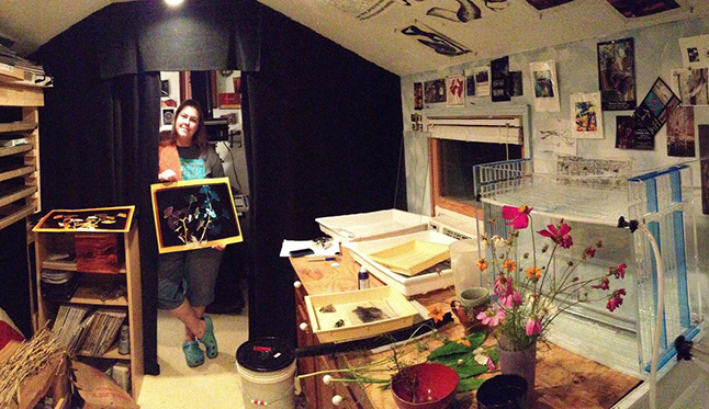Jamie Hagenberger and Her Darkroom Studio for Display