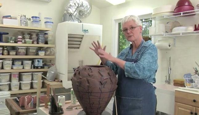 Judith Ernst Demonstrates Her Ceramic Work
