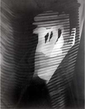 Man Ray, Untitled Rayograph (Image Through Blinds), 1926