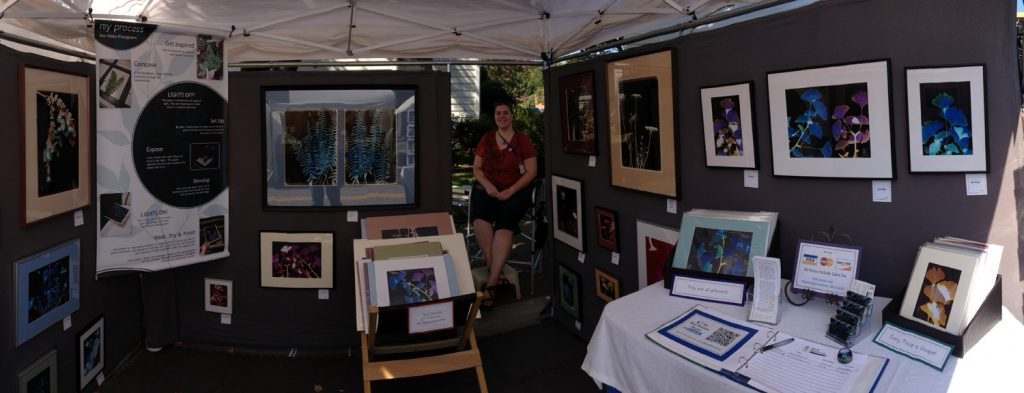 Panoramic Shot of Jamie's Booth at an Art Fair