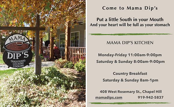 Mama Dips print ad