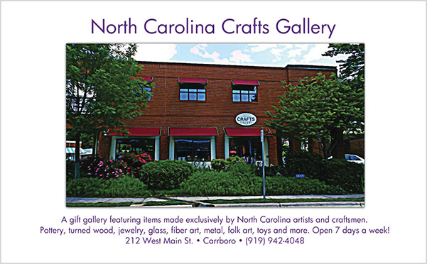 NC Crafts Gallery print ad